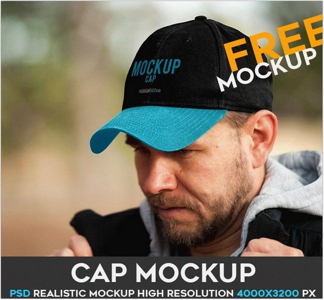 Free PSD Mockup cap