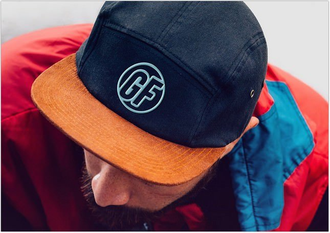 Cap Embroidered Logo Mockup