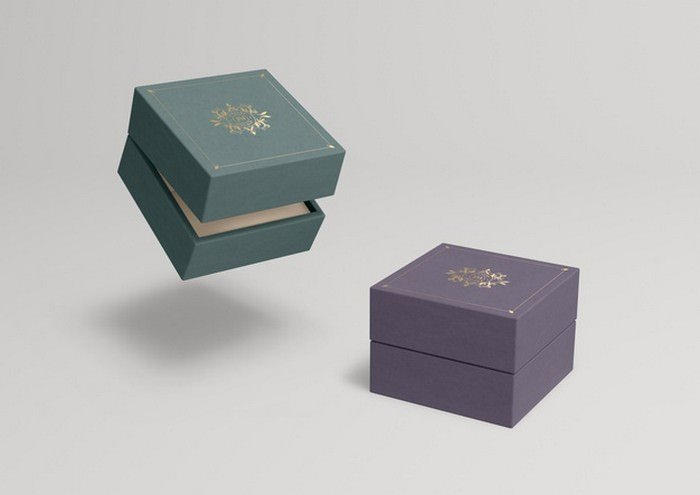 Closed Jewelry Boxes PSD Mock-up