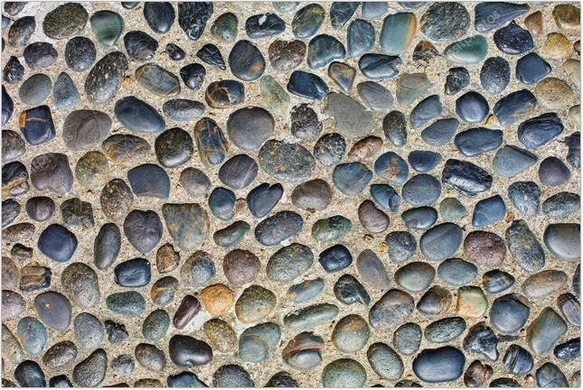 Color Pebble Stone Floor Textures