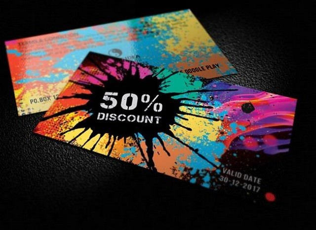 Colorful Gift Voucher Card