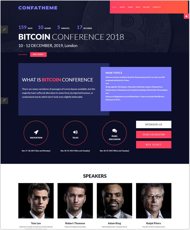 Stylish Conference Joomla Template