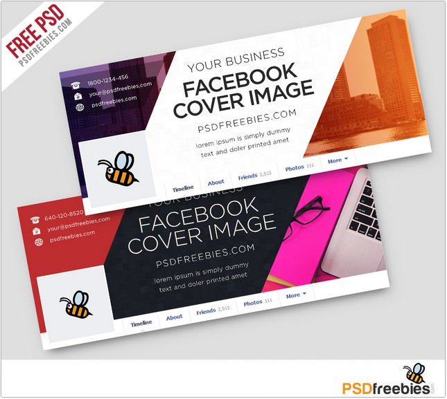 Corporate Facebook Covers Free PSD