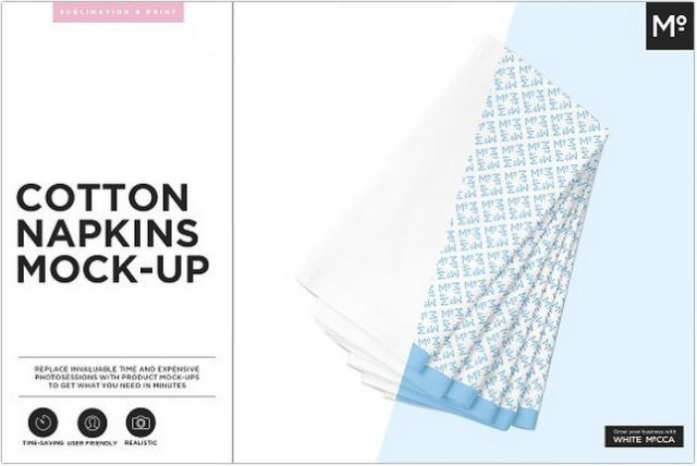 Cotton Napkin Mockup psd