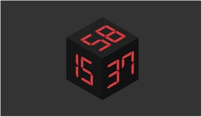 Cube Clock Html
