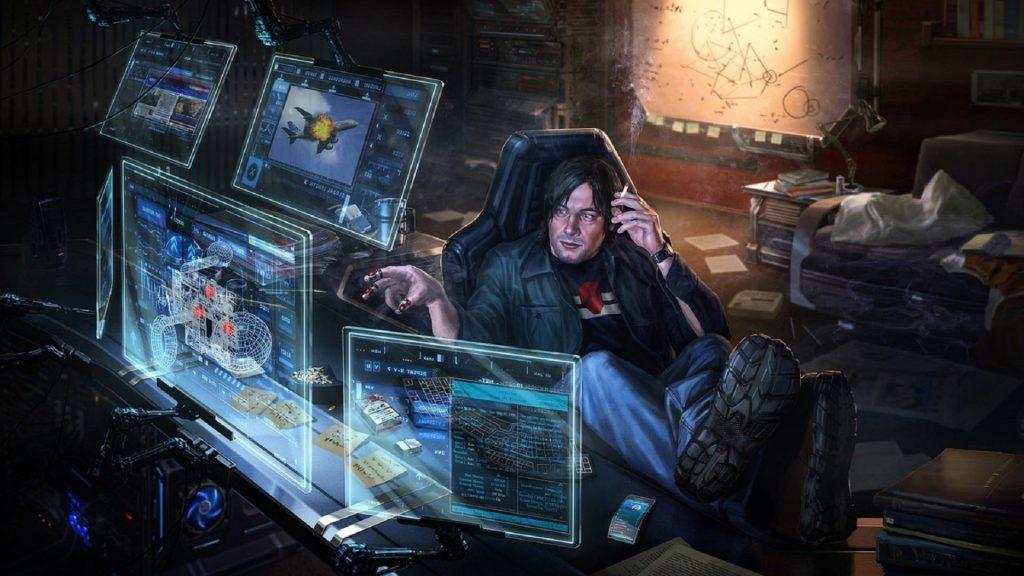 Cyberpunk office 1920 × 1080
