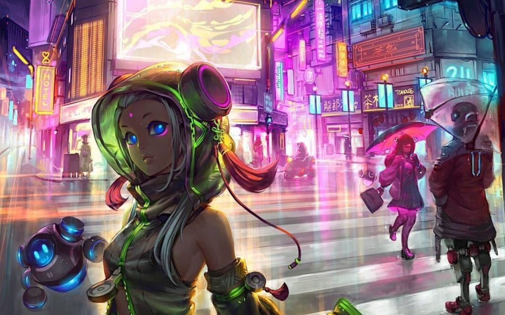Cyberpunk HD wallpaper 1440 × 900