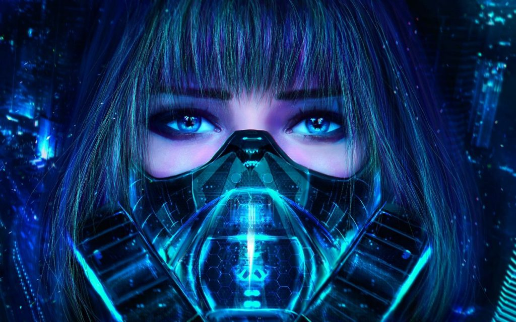 1440 × 900 Cyberpunk character