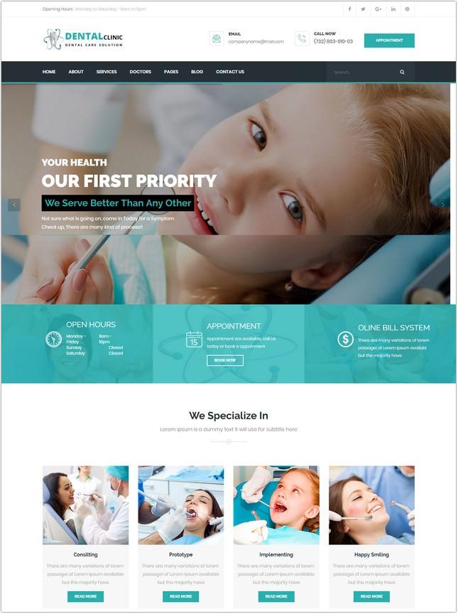 Dental Clinic HTML Template