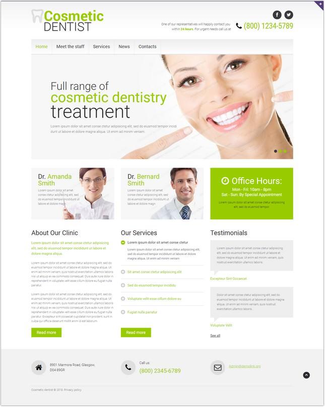 Dentistry Website Responsive Template