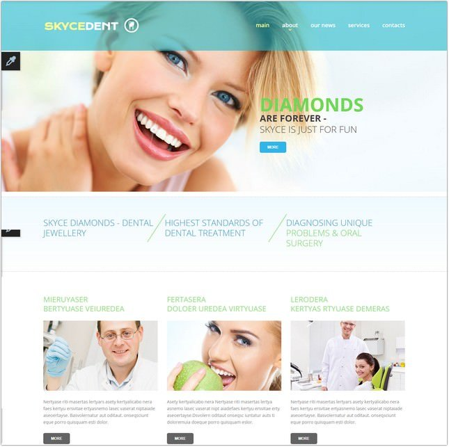 Responsive Dentistry Website Template