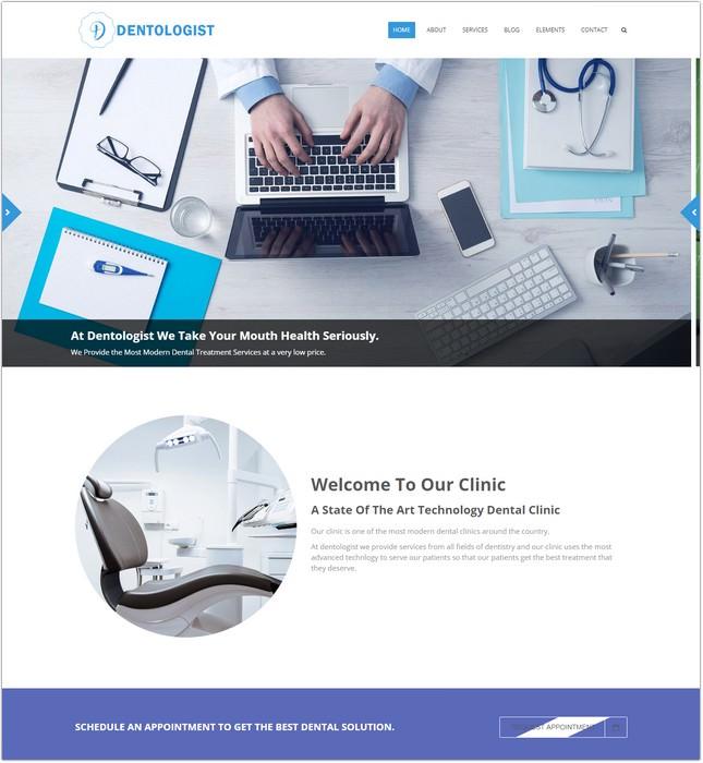 Dentologist website template