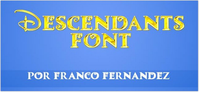 Descendants Font free