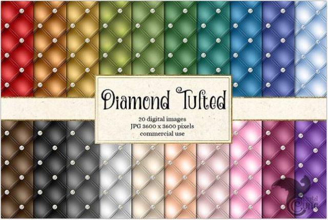 Diamond Tufted Background