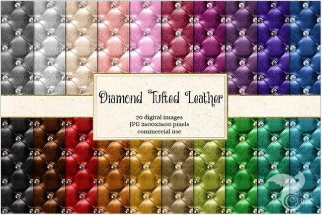 Diamond Tufted Leather Texture