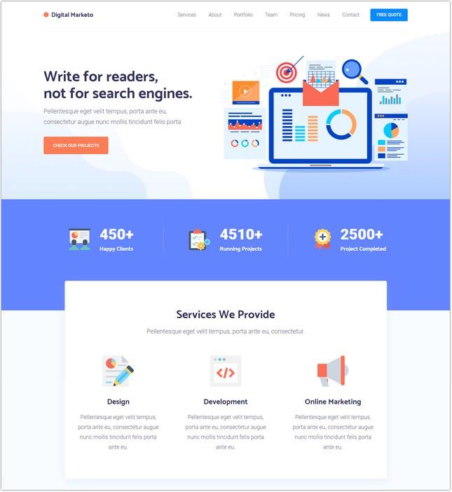 Digital SEO Agency HTML Template