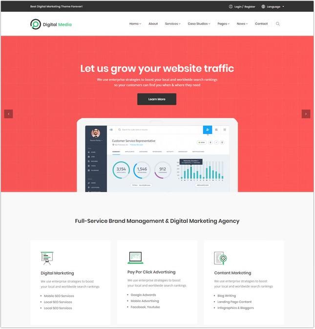 Digital Media - Digital Marketing HTML Template
