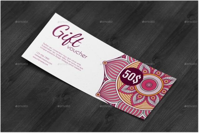 Discount Voucher Mock-Up psd