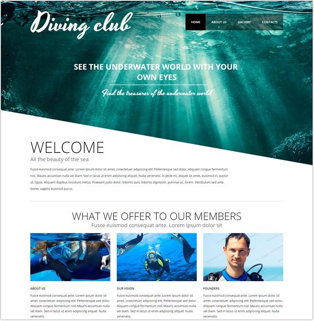 Diving Website Template