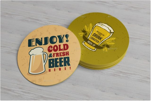 Drink Coaster Mock-Up
