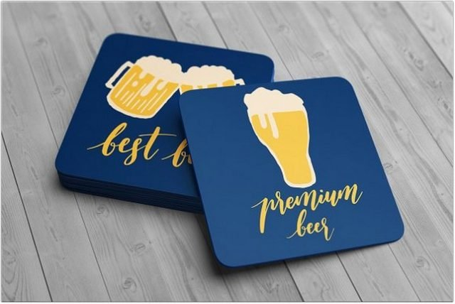 Drink Coaster Mock-Up psd