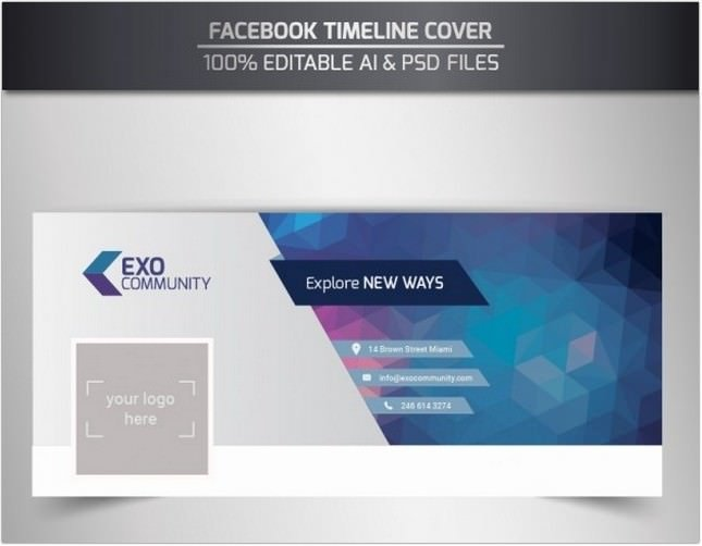 Editable Timeline Cover Template