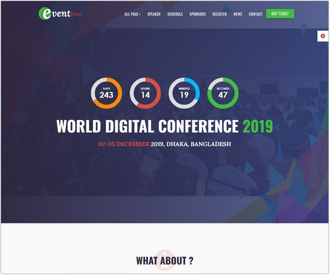 Event, Conference & Meetup HTML5 Template
