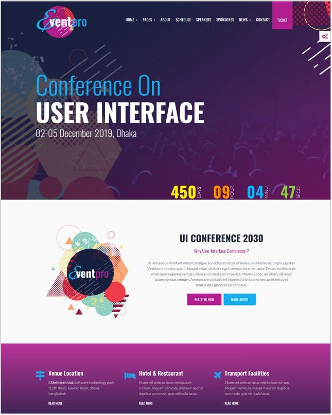 Conference, Event & Meetup HTML Template