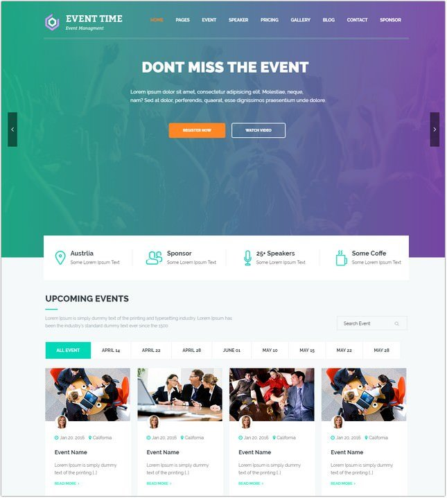 Conference & Event HTML Template
