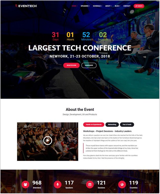 Conference Event Website Template
