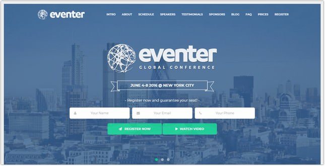 Event And Conference Landing Page