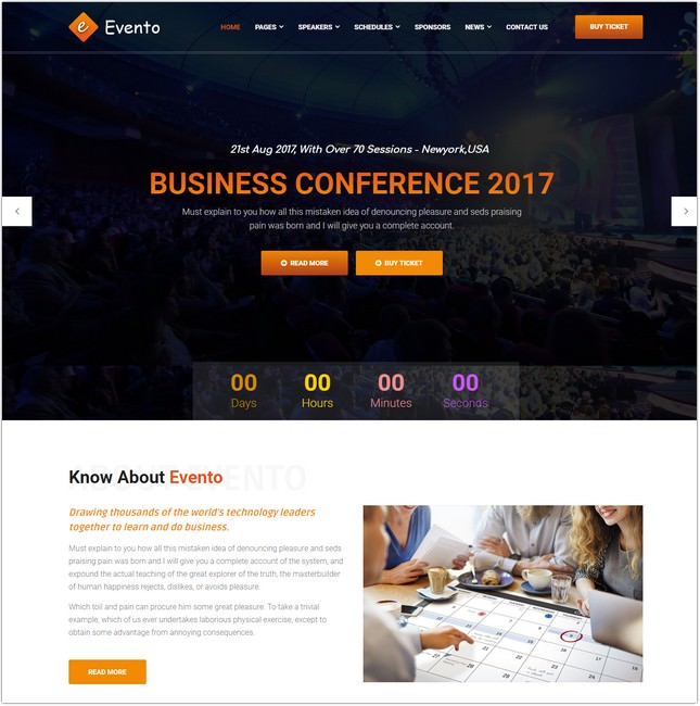 Conference and Event HTML Template