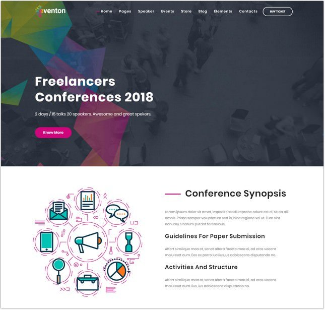 Event Conference Joomla Template
