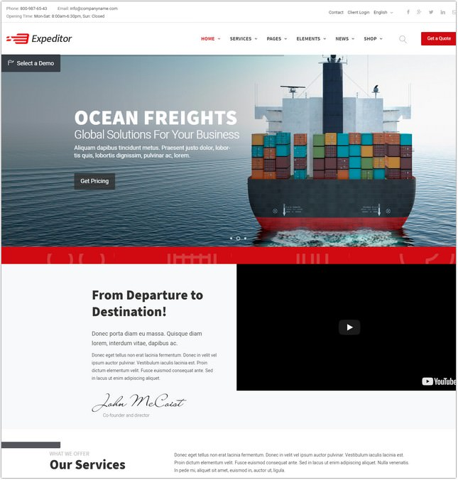 22+ Best Logistics Website Templates & Themes 2018 - Templatefor