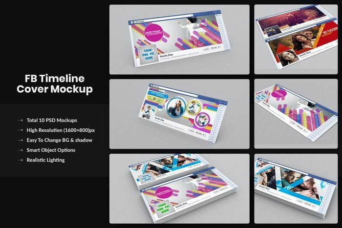 FaceBook Timeline Cover Banner Mockups
