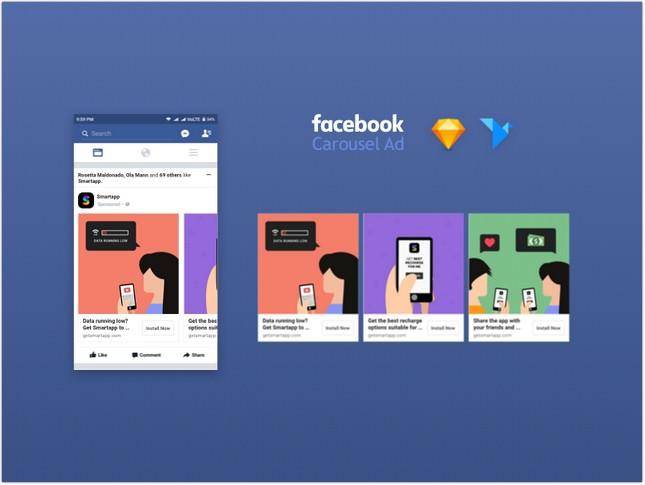 Facebook Carousel Ad Mockup