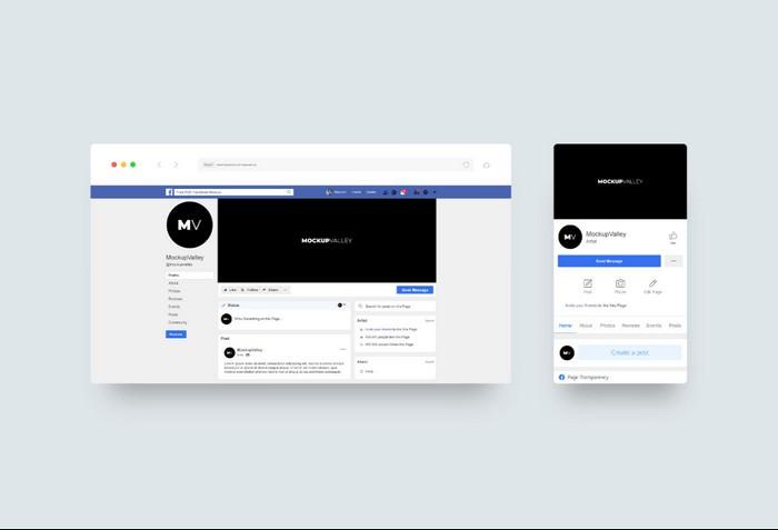MV Facebook Cover Mockup