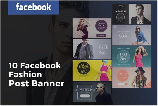 Facebook Fashion Post Banners template