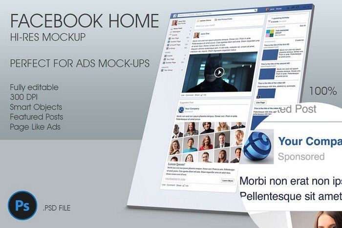 Showcase Ads with This Facebook Mockup Template-6000×4500 px