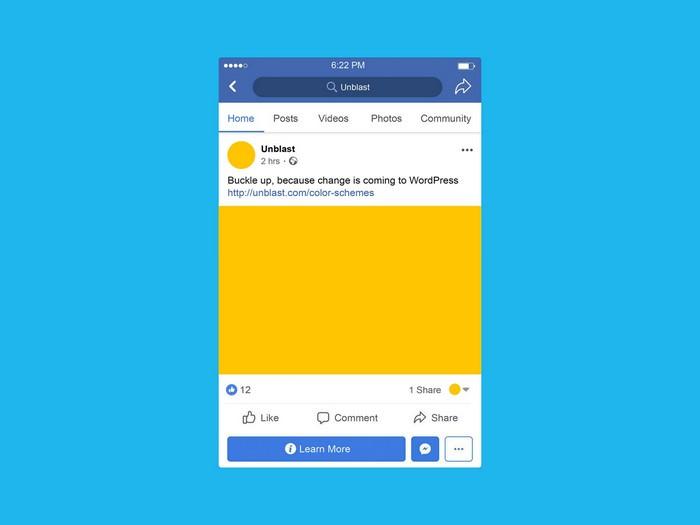 Facebook Mobile Post Mockup PSD