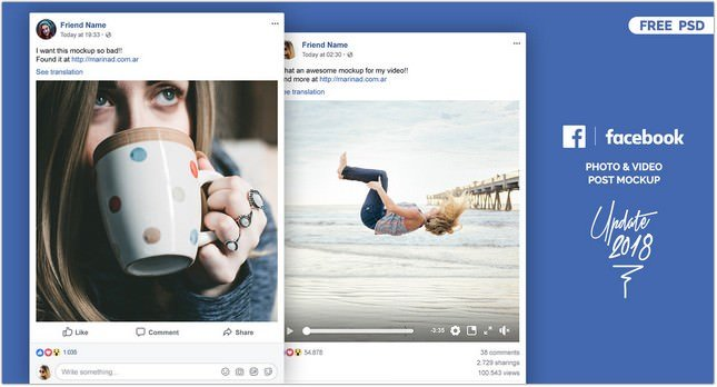 Facebook PSD Post Mockup