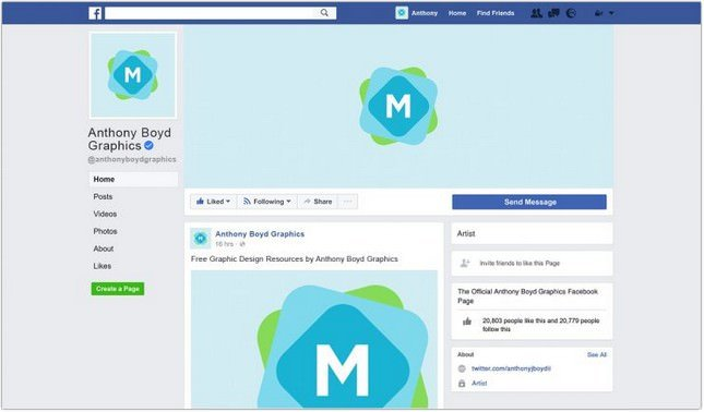 Facebook Page Mockup template
