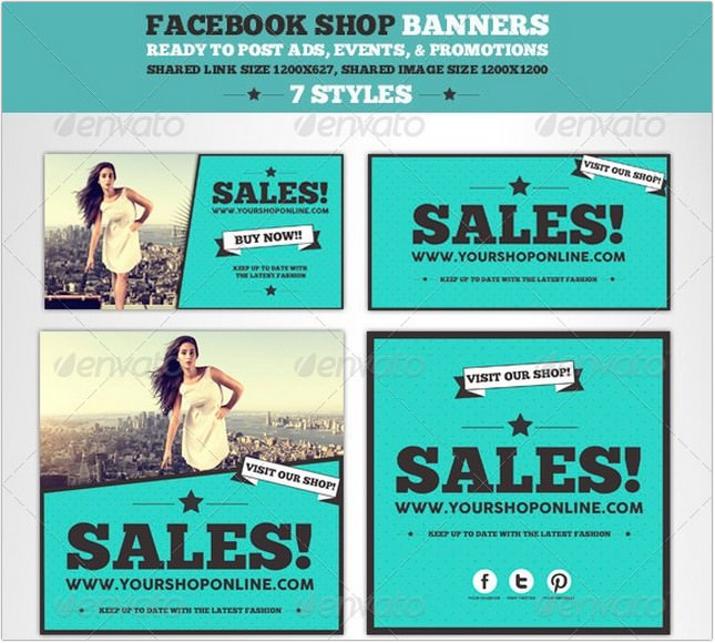 Facebook Post Banners psd