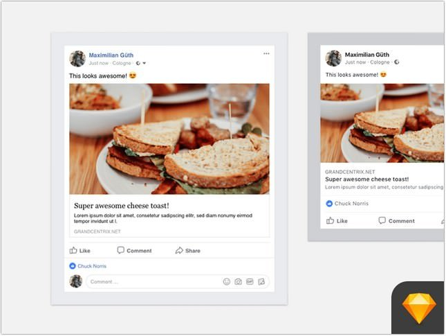 Facebook Post Mockup psd