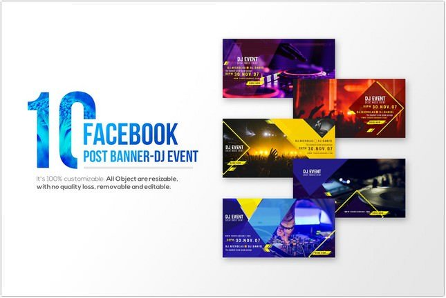 DJ Event Facebook psd
