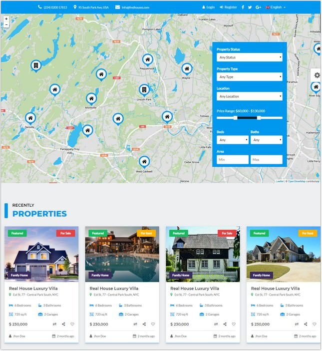 Find Houses HTML Template