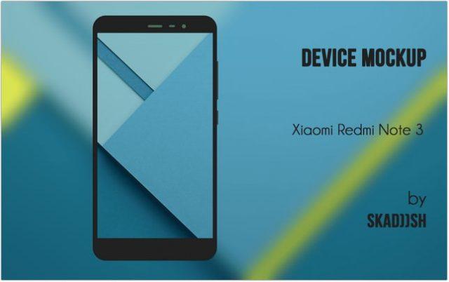 RedMi Note 3 mockup