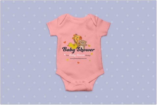 Free Baby Onesie Mockup template