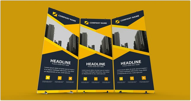 Free Banner Mockup template