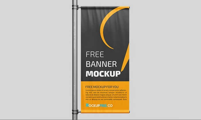 Free Banner Mockup in PSD